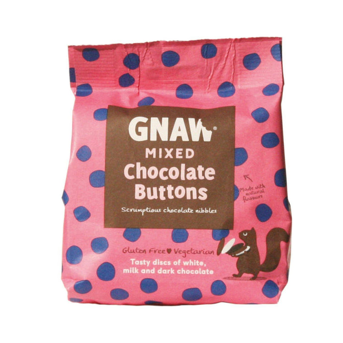 Gnaw | Mixed White, Dark and Milk Chocolate Buttons 150G