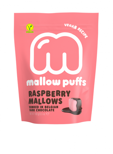 Mallow Puff | Raspberry Mallows Coated in Chocolate - Treat Me Good
