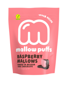 Mallow Puff | Raspberry Mallows Coated in Chocolate