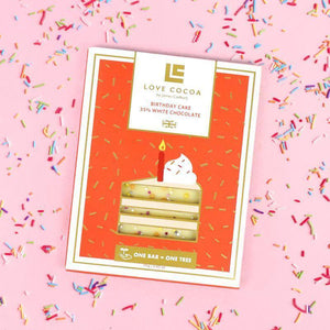 Love Cocoa | Birthday Cake 35% White Chocolate Bar 75G