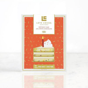 Love Cocoa Birthday Cake Chocolate Bar