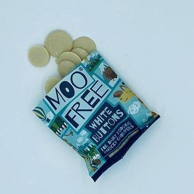 Moo Free | Dairy Free White Alternative Chocolate Buttons - Treat Me Good