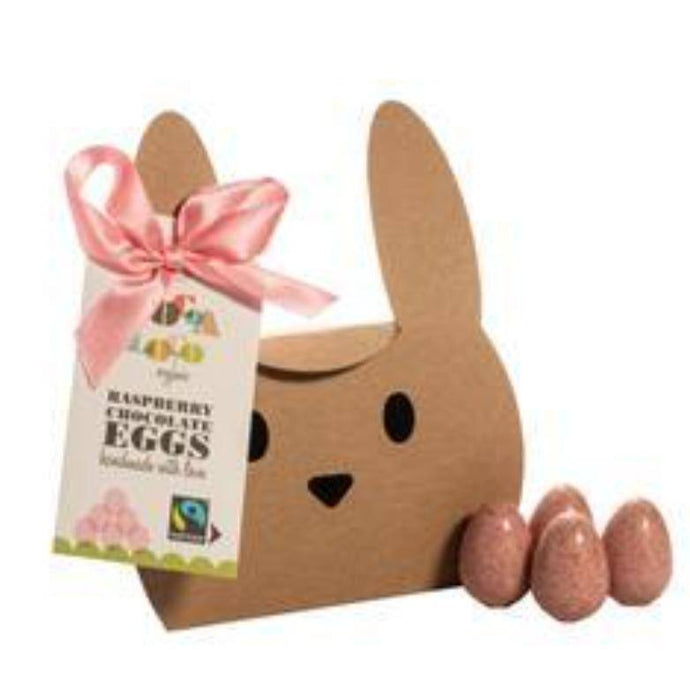 Cocoa Loco | White Chocolate & Raspberry Mini Eggs