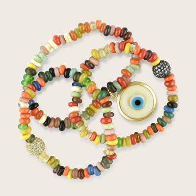 Alala Bracelet Glass Beads Evil Eye | Madeleine Lou Jewelry