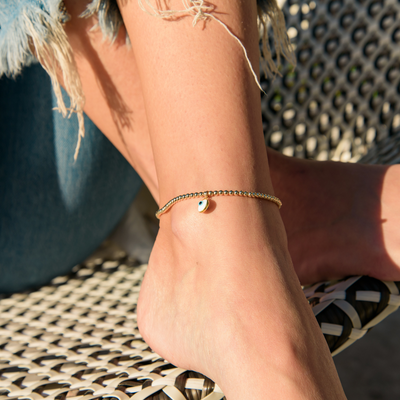 Anisa Gold Charm Anklet | Madeleine Lou Jewelry