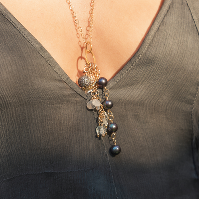 Artemis Gold Charm Necklace | Madeleine Lou Jewelry