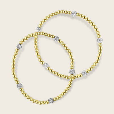 Vesta Gold and CZ Bracelet | Madeleine Lou Jewelry
