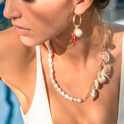 Gustavia Necklace - St Barts Collection - Madeleine Lou Jewelry