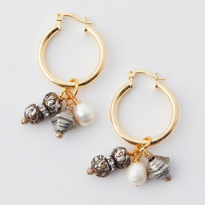 Madeleine Lou Jewelry Design Earring Anda Hoop Earrings