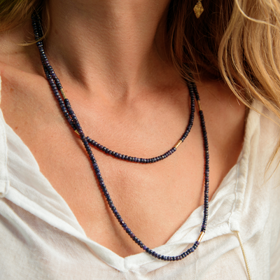 Madeleine Lou Jewelry Design Necklace Deep Blue Necklace