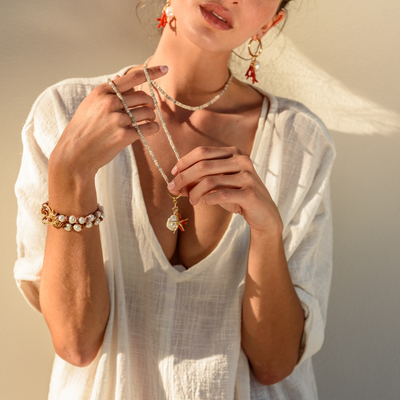Shell Beach Necklace - St Barts Collection - Madeleine Lou Jewelry