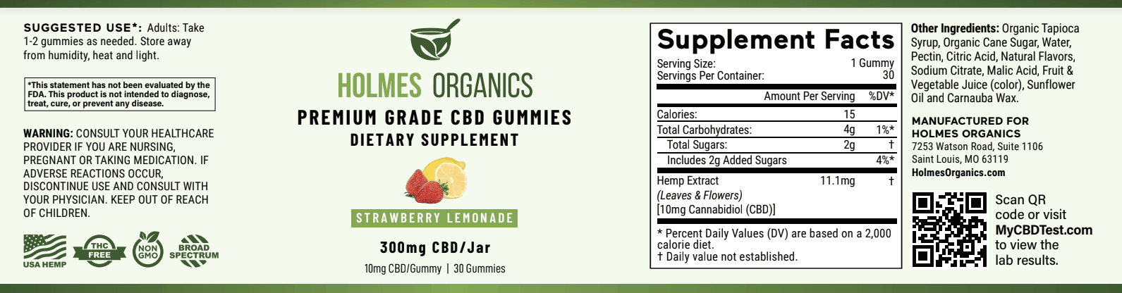 Strawberry Lemonade CBD Gummies