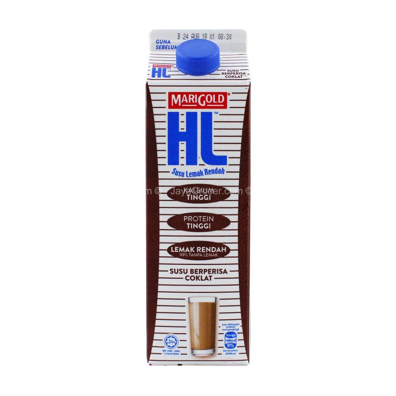 Marigold HL Low Fat Chocolate Flavoured Milk 1L