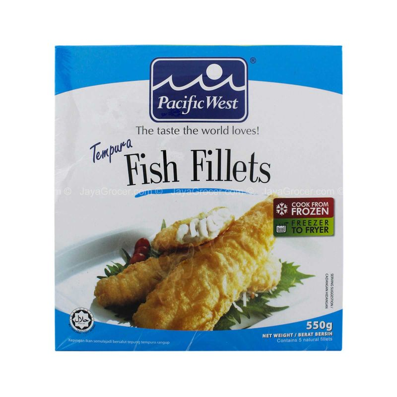 Pacific West Tempura Fish Fillets 550g