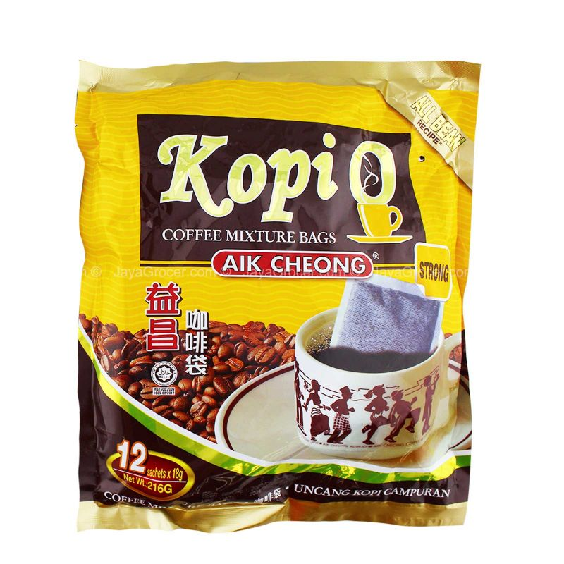 Aik Cheong Kopi O Strong Coffee Mixture Bags 216g