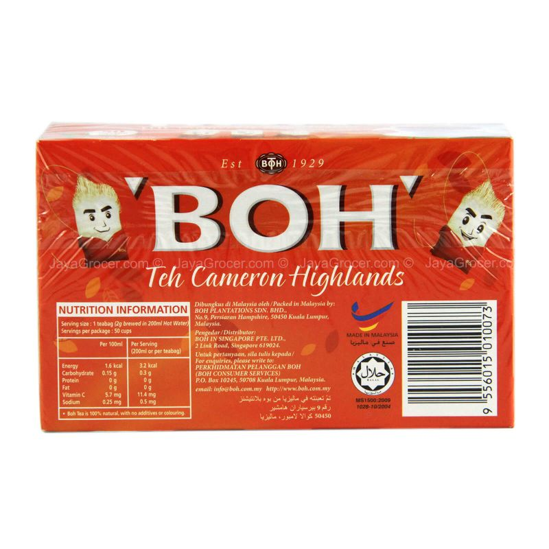 Boh Double Chamber Teabags 50pcs