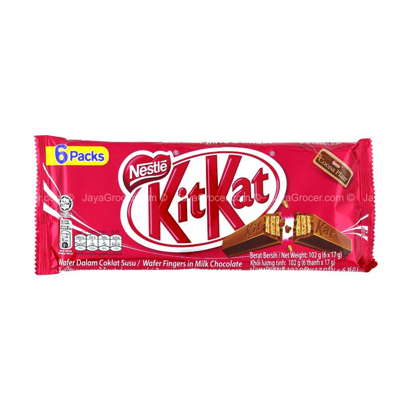 Nestle Kit Kat Chocolate Wafer Fingers 17g x 6packs