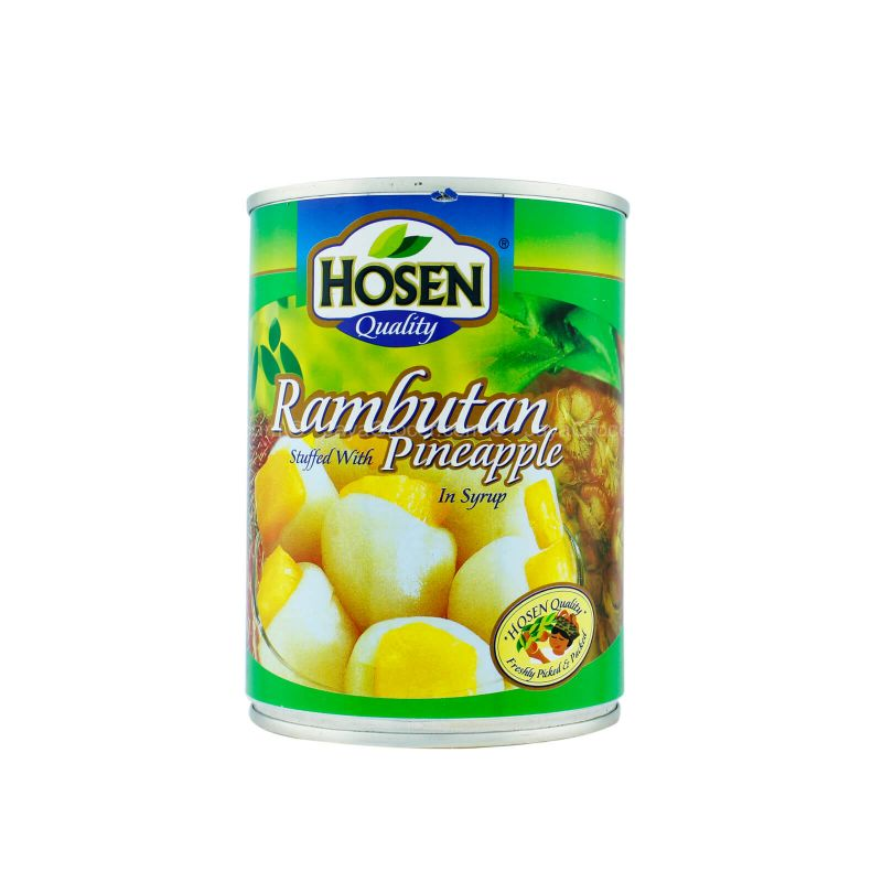 Hosen Rambutan Stuffed with Pineapple in Syrup 565g