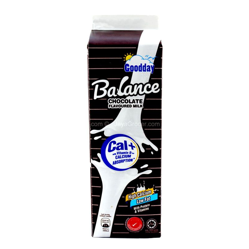 Goodday Balance Pasteurised Low Fat Chocolate Milk 1L