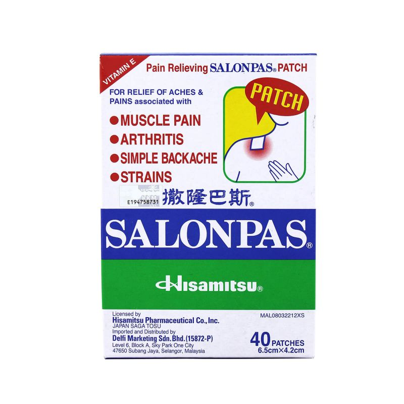 Hisamitsu Salonpas Pain Relieving Patch 40pcs