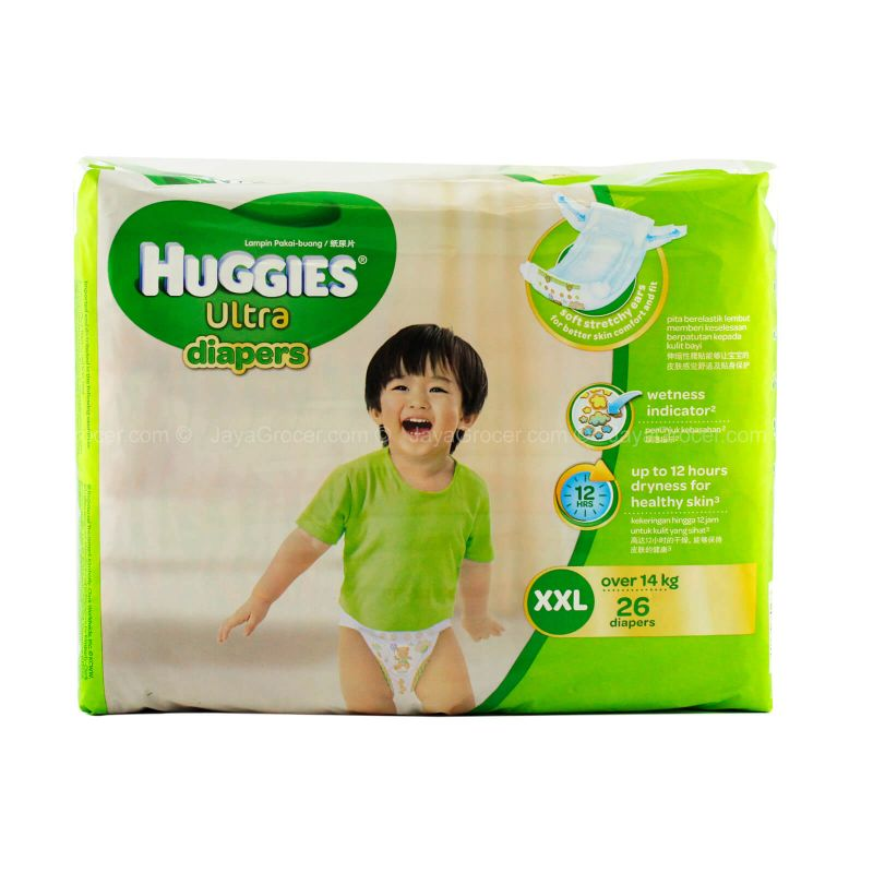 Huggies Ultra Diapers Jumbo Size XXL 26pcs