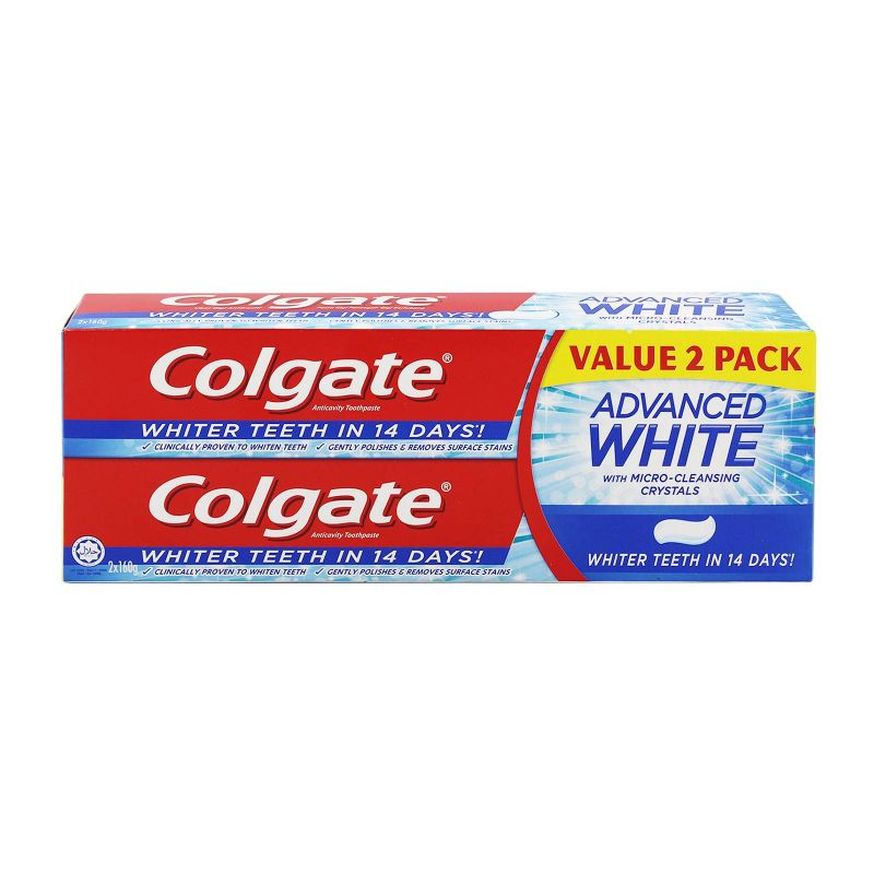 Colgate Advanced Whitening Toothpaste 160g x 2