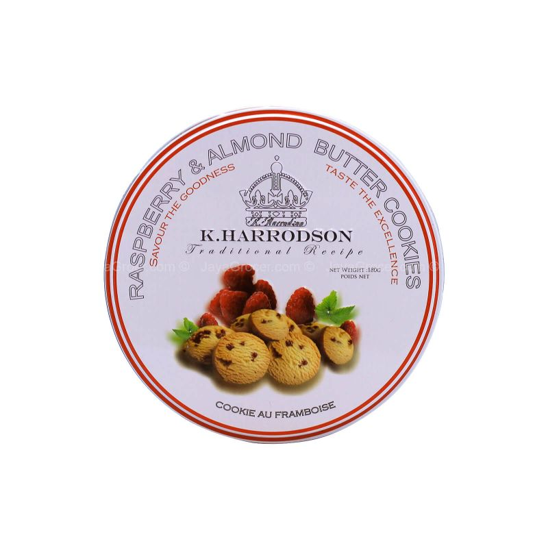 K. Harrodson Raspberry & Almond Butter Cookies 180g