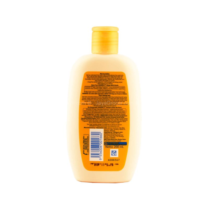 Johnson's Baby Bath Peach 200ml