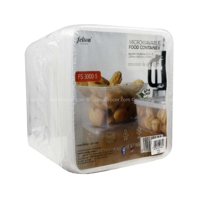 Felton Microwave Food Container 5pcs