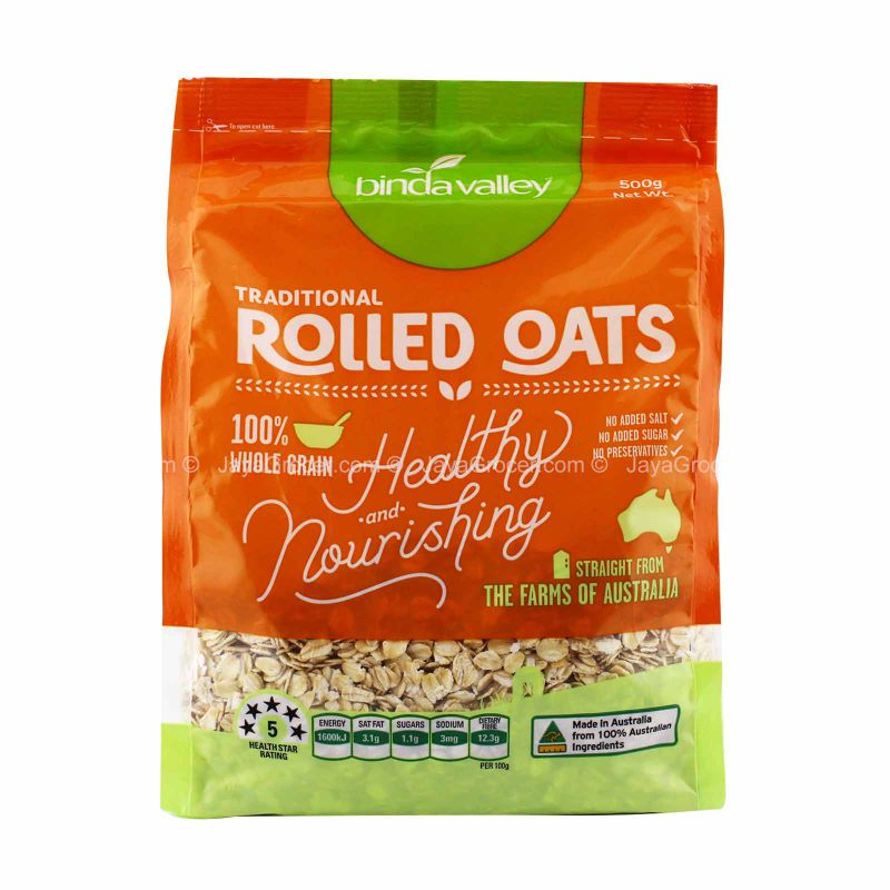 Binda Valley Traditional Rolled Oats 500g