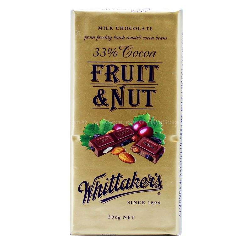 Whittaker's Fruit & Nut Milk Chocolate Bar 200g