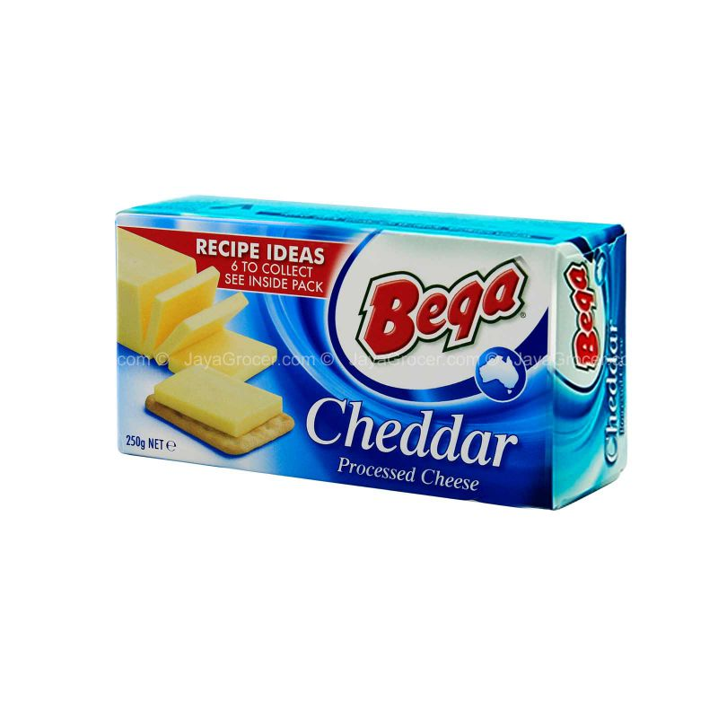 Bega Processed Cheddar Cheese Block 250g