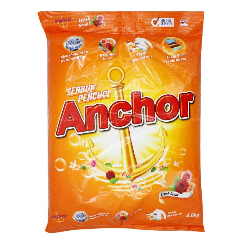 Anchor Detergnt Powder Fresh Scent 4kg