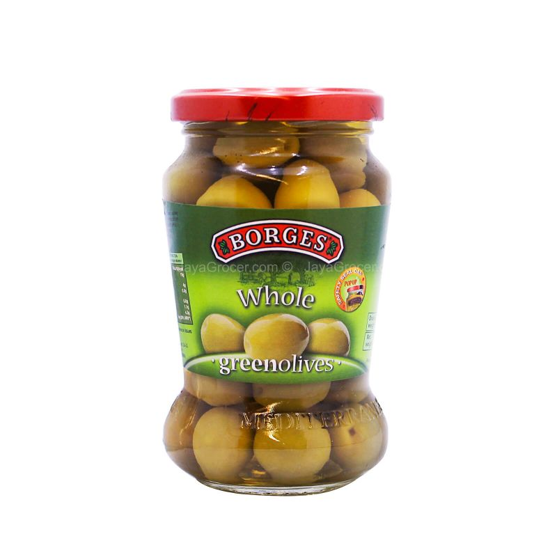 Borges Whole Green Olives 300g