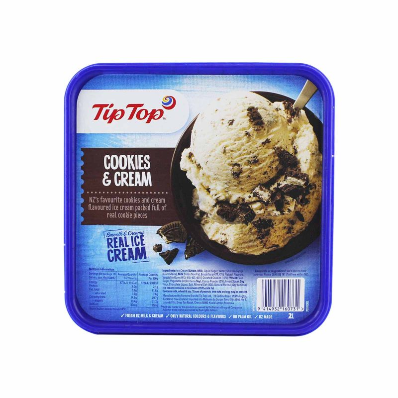 Tip Top Cookies and Cream Ice Cream 2L