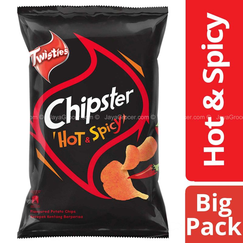 Chipster Potato Chips Hot and Spicy 160g