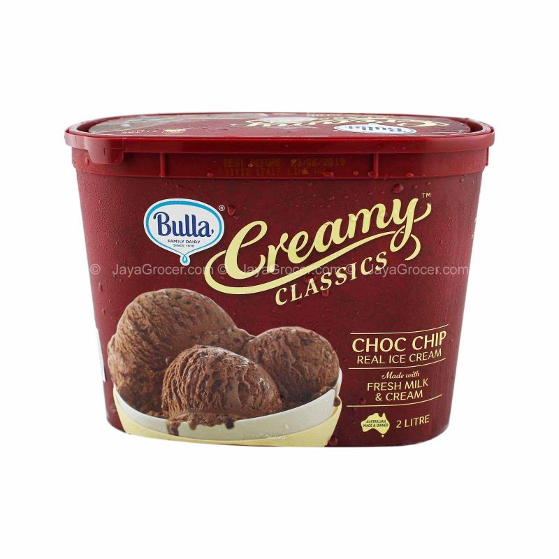 Bulla Creamy Classics Choc Chip Real Ice Cream 2L