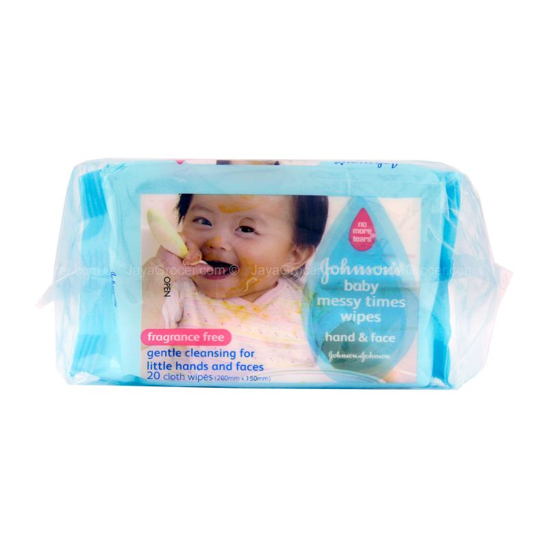 Johnson's Baby Messy Times Wipes Hand & Face 20pcs x 3packs