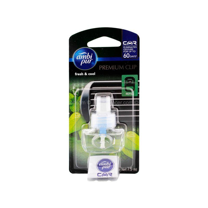 Ambi Pur Fresh & Cool Car Freshener Premium Clip Refill 7.5ml