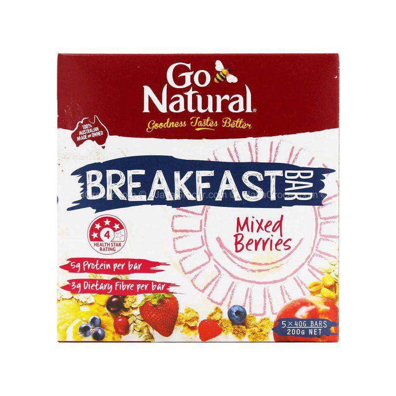 Go Natural Mixed Berries Breakfast Bar 200g