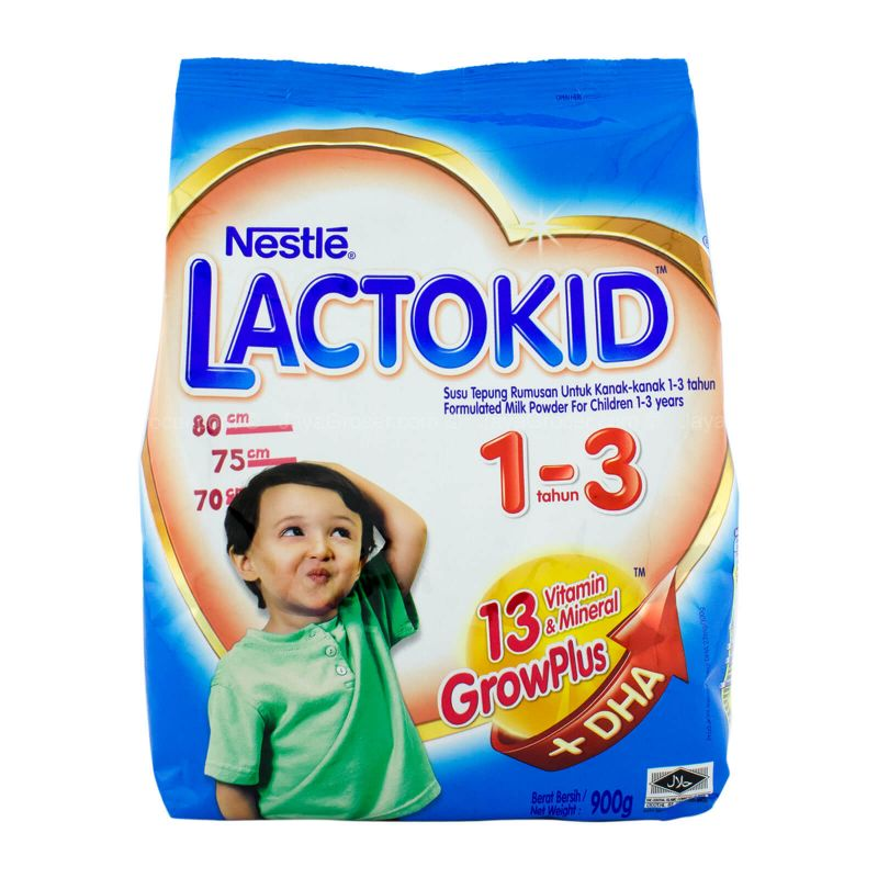 Nestle Lactokid GrowPlus Formula Milk Powder 1-3 Years 900g