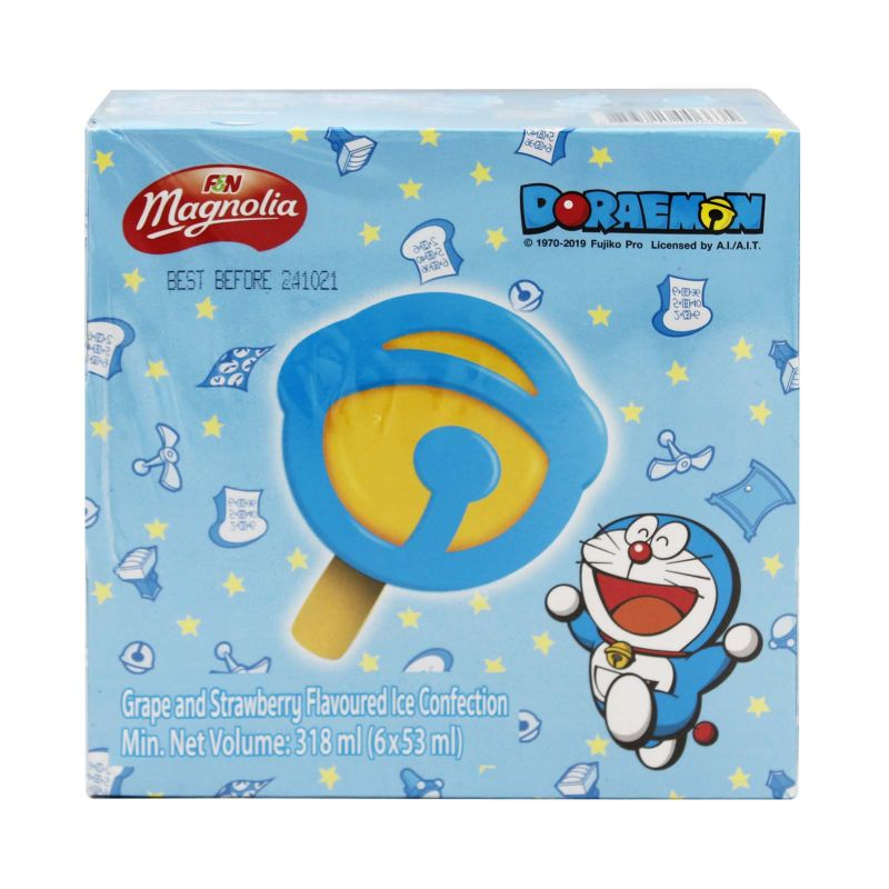 F&N Magnolia Doraemon Bell Popsicle Ice Cream 53ml x 6