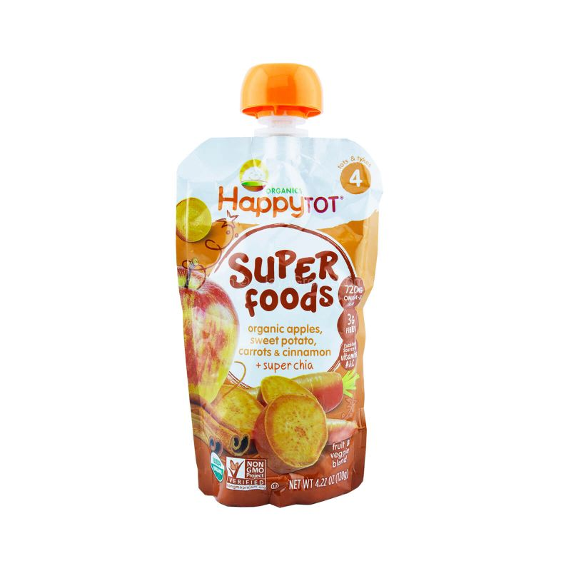 Happy Tot Organic Superfoods Sweet Potato, Apple, Carrot and Cinnamon 120g