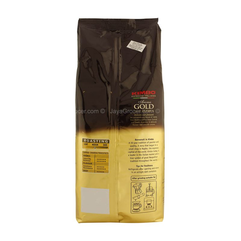 Kimbo Aroma Gold 100% Arabica Whole Coffee Beans 500g
