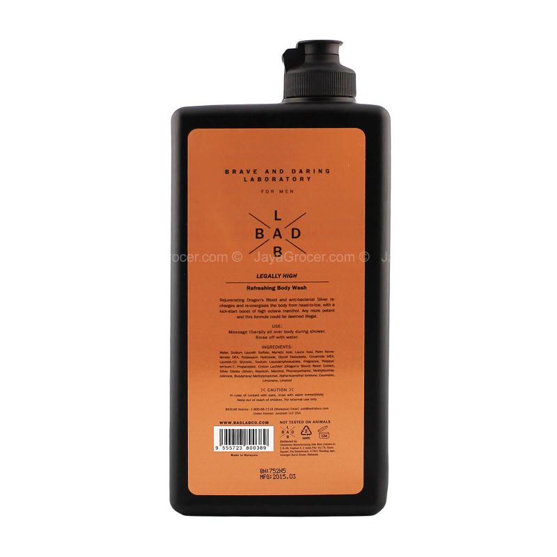 Bad Lab Legally High Refreshing Body Wash 400ml