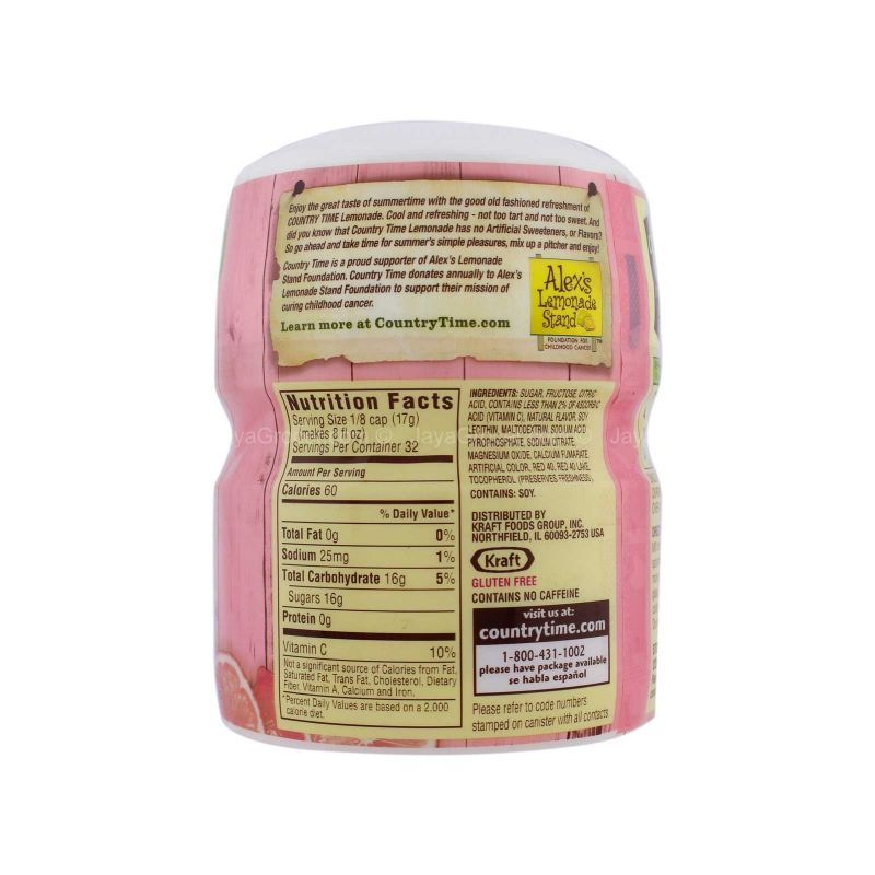 Country Time Pink Lemonade Flavor Powder Mix 538g