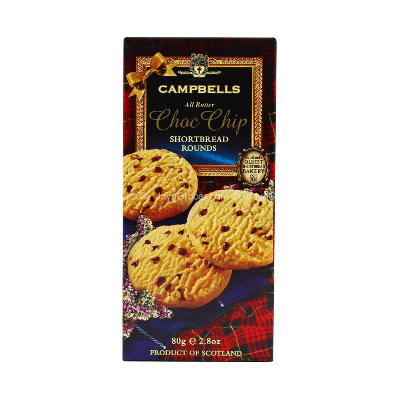 Campbells All Butter Choc Chip Rounds Shortbread 80g
