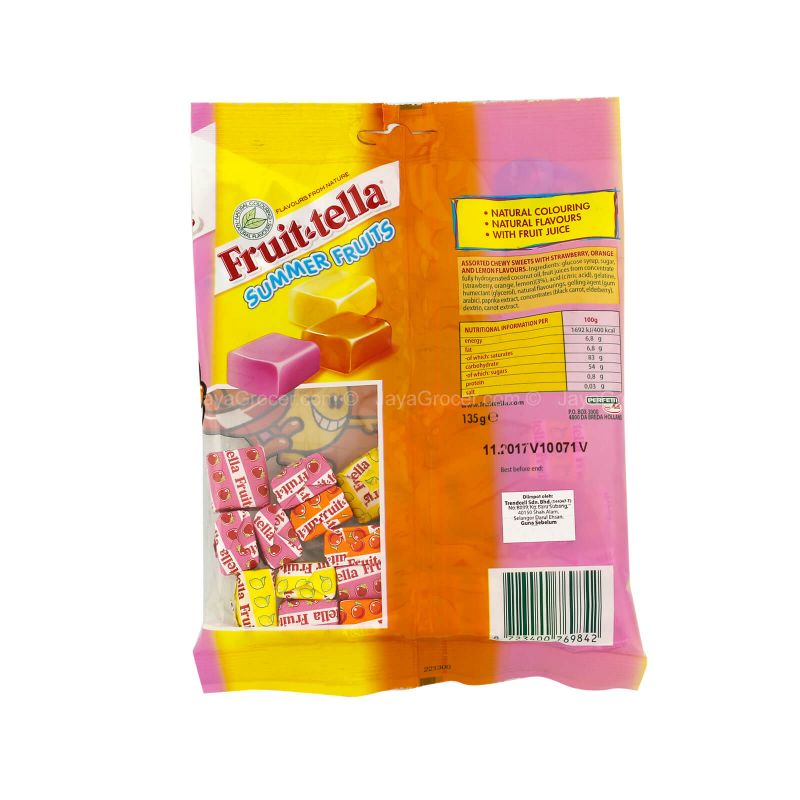 Fruittella Summer Fruit Chewy Candy 135g