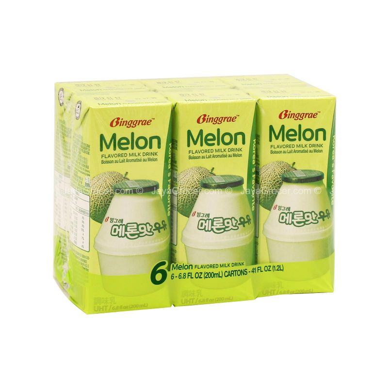 Binggrae Melon Flavored Milk Drink 200ml x 6