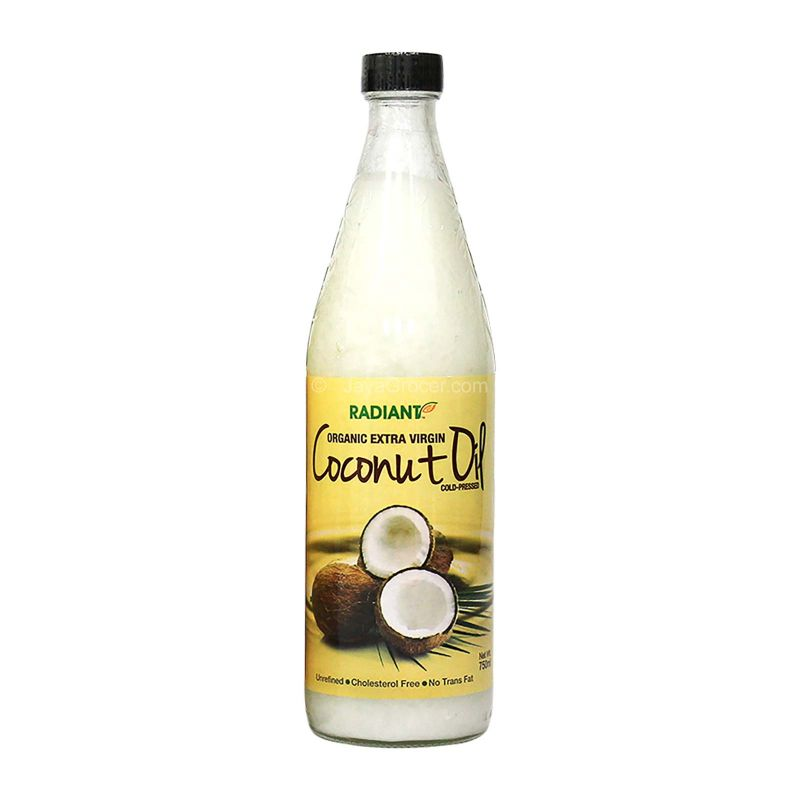 Radiant Organic Extra Virgin Coconut Oil Cold Pressed 750ml